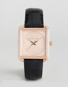 Часы цвета розового золота с кожаным ремешком Michael Kors Lake - Золотой