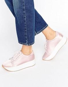 Розовые атласные кроссовки Vagabond Casey - Розовый