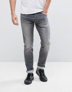 Серые выбеленные узкие джинсы Jack & Jones Intelligence - Серый