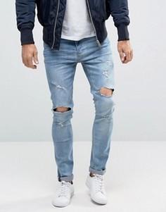 Рваные джинсы скинни Brave Soul - Синий
