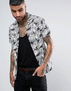 Рубашка скинни с отложным воротником Noose & Monkey - Черный