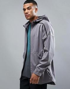 Серый худи с удлиненным краем adidas ZNE B46970 - Серый