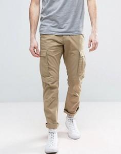 Узкие брюки карго Produkt - Бежевый