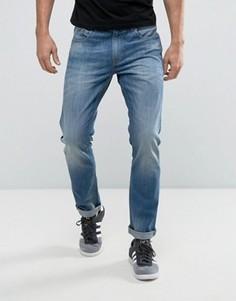 Выбеленные синие джинсы стандартного кроя Produkt - Синий