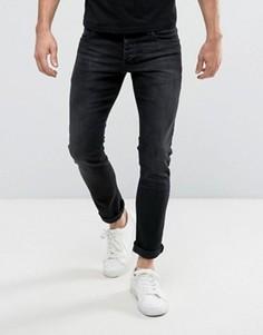 Черные выбеленные джинсы слим Jack & Jones Intelligence - Синий