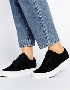 Черные замшевые кроссовки-премиум Vans Old Skool - Черный