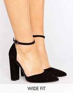 Туфли на каблуке для широкой стопы с острым носком ASOS PENALTY - Черный