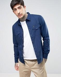 Приталенная рубашка в стиле вестерн Lee - Темно-синий