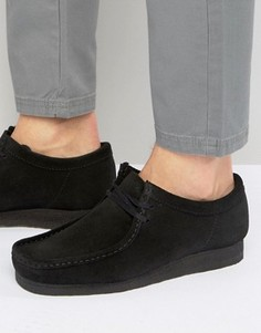 Замшевые ботинки Clarks Orginal Wallabee - Черный