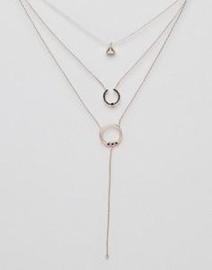 Ярусное ожерелье цвета розового золота ALDO - Золотой