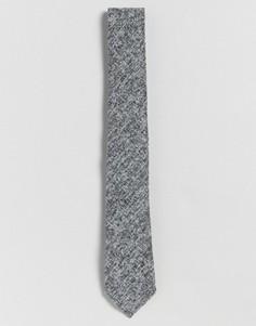 Серый узкий фактурный галстук ASOS - Серый