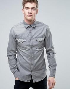 Серая джинсовая рубашка в стиле вестерн Jack & Jones Vintage - Серый
