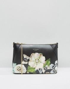 Сумка через плечо с цветочным принтом Ted Baker Gem Gardens - Черный