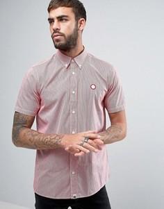 Красная рубашка в клеточку с короткими рукавами Pretty Green Glendale - Красный