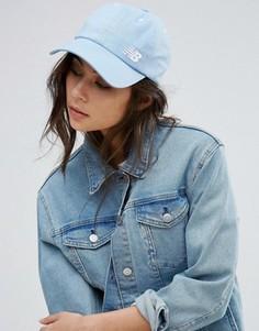 Классическая светло-голубая кепка с логотипом New Balance - Синий