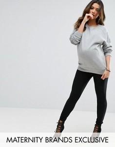 Леггинсы в рубчик Missguided Maternity - Черный