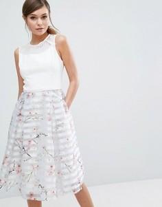 Платье с цветочным принтом Ted Baker Monah - Серый