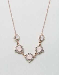 Броское ожерелье с белым камнем Johnny Loves Rosie - Золотой