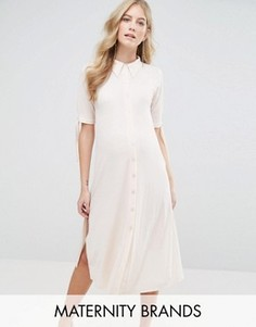 Платье-рубашка Bluebelle Maternity - Розовый