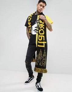 Oversize-шарф с надписью Granted - Черный