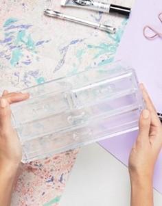 Органайзер для косметики с 4 ящичками - Бесцветный Beauty Extras