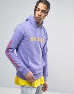Худи фиолетового цвета с текстовым принтом Criminal Damage - Фиолетовый