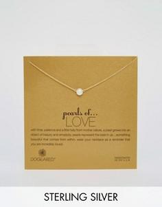 Позолоченное ожерелье с жемчужиной Dogeared Pearls Of Love - Золотой