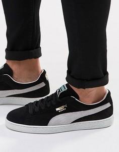 Замшевые кроссовки Puma - Черный