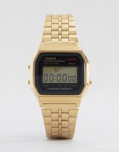 Электронные часы с золотым ремешком Casio A159WGEA-1EF - Золотой