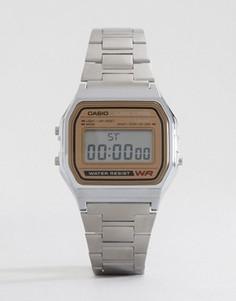Цифровые часы Casio Classic Retro A158WEA-9EF - Серебряный