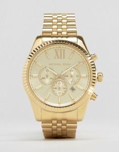 Золотистые часы с хронографом Michael Kors MK8281 Lexington - Золотой