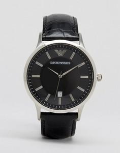 Наручные часы с кожаным ремешком Emporio Armani AR2411 - Черный