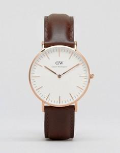 Классические часы Daniel Wellington Bristol - Коричневый