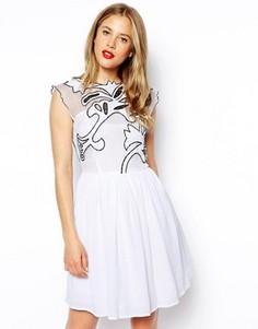 Платье для выпускного ASOS Gothic - Белый