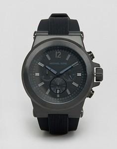 Oversize-часы с хронографом и силиконовым ремешком Michael Kors MK8152 Dylan - Черный