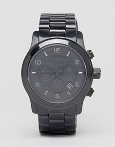 Черные oversize-часы с хронографом Michael Kors MK8157 - Черный