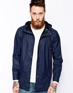 Короткая непромокаемая куртка Rains - Синий