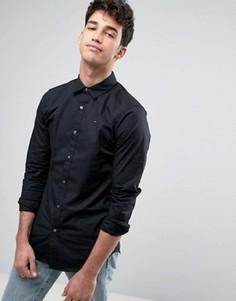 Эластичная хлопковая рубашка слим Hilfiger Sabim - Черный