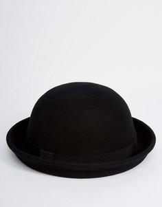 Черная фетровая шляпа-котелок ASOS - Черный