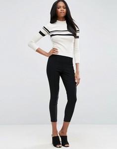 Укороченные зауженные брюки с завышенной талией ASOS - Черный