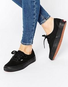 Классические черные кроссовки на шнуровке Vans Authentic - Черный