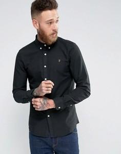 Черная оксфордская рубашка слим Farah Brewer - Черный