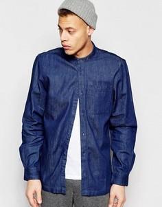 Синяя джинсовая рубашка классического кроя с воротником на пуговице Waven Arne Torkel - Синий