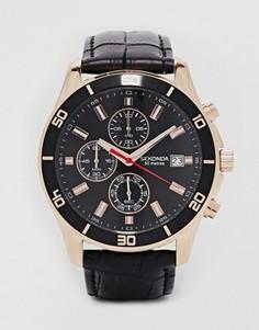 Часы с кожаным ремешком Sekonda - Черный