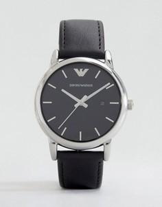 Часы с кожаным ремешком Emporio Armani AR1692 - Черный