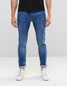 Супероблегающие состаренные джинсы LDN DNM - Синий