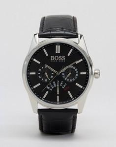 Часы с хронографом и кожаным ремешком BOSS By Hugo Boss 1513124 - Черный