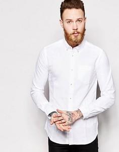 Оксфордская рубашка слим Dr Denim Pete - Белый
