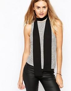 Длинный узкий шарф в стиле 70‑х ASOS - Черный
