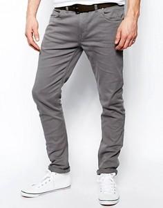 Узкие джинсы из серой саржи Farah Drake - Серый